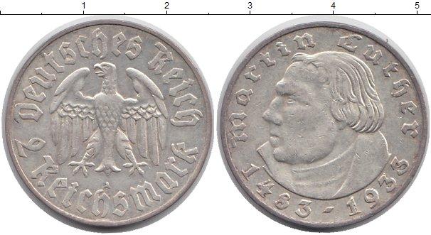 Картинка Монеты Третий Рейх 2 марки Серебро 1933