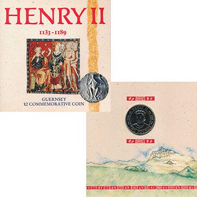 Изображение Подарочные монеты Великобритания Гернси 2 фунта 1991 Медно-никель UNC