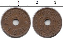 Изображение Монеты Дания 1 эре 1938 Бронза XF