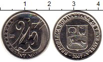 Изображение Монеты Венесуэла 25 сентим 2007 Медно-никель UNC-