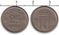 Изображение Монеты Норвегия 25 эре 1953 Медно-никель XF