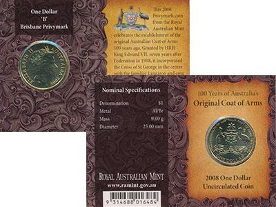 Изображение Подарочные монеты Австралия 1 доллар 2008  UNC