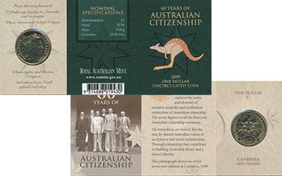 Изображение Подарочные монеты Австралия 1 доллар 2009 Латунь UNC Елизавета II.  60 -
