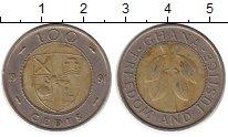 Изображение Монеты Гана 100 седи 1991 Биметалл XF
