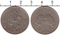 Изображение Монеты Гана 50 седи 1999 Медно-никель XF-