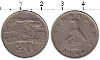 Изображение Монеты Зимбабве 20 центов 1994 Медно-никель VF