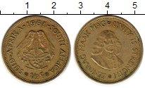 Изображение Монеты ЮАР 1/2 цента 1961 Латунь XF-