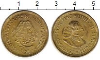 Изображение Монеты ЮАР 1/2 цента 1963 Латунь XF