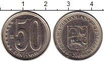 Изображение Монеты Венесуэла 50 сентим 2009 Медно-никель XF