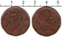 Изображение Монеты Чили 50 песо 1981 Латунь XF