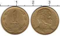 Изображение Монеты Чили 1 песо 1984 Латунь XF