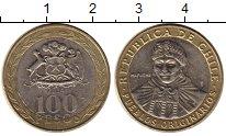 Изображение Монеты Чили 100 песо 2014 Биметалл XF