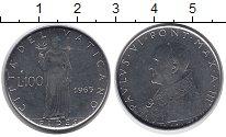 Изображение Монеты Ватикан 100 лир 1965 Сталь UNC-