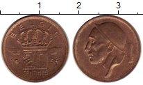 Изображение Монеты Бельгия 20 сантим 1954 Бронза XF