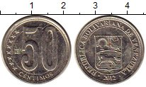 Изображение Монеты Венесуэла 50 сентим 2012 Медно-никель XF