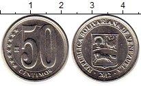 Изображение Монеты Венесуэла 50 сентим 2012 Медно-никель UNC