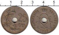 Изображение Монеты Бельгия 25 сантим 1913 Медно-никель XF