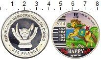 Изображение Монеты Конго 240 франков 2014 Серебро Proof-