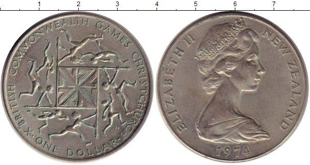 Картинка Монеты Новая Зеландия 1 доллар Медно-никель 1974