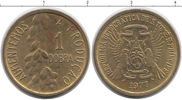 Картинка Монеты Сан-Томе и Принсипи 1 добра Латунь 1977