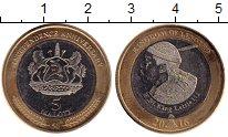 Изображение Монеты Лесото 5 малоти 2016 Биметалл UNC