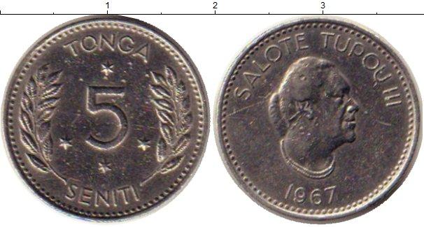 Картинка Монеты Тонга 5 сенити Медно-никель 1967