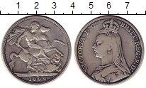 Изображение Монеты Великобритания 1 крона 1892 Серебро VF