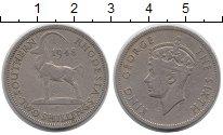Изображение Монеты Великобритания Родезия 2 шиллинга 1948 Медно-никель XF