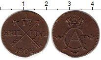 Изображение Монеты Швеция 1/12 скиллинга 1808 Медь XF