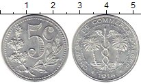 Изображение Монеты Алжир 5 сантим 1916 Алюминий XF+