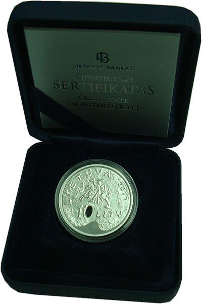 Изображение Подарочные монеты Литва 10 лит 2012 Серебро Proof Изобразительное иску