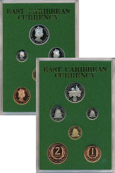 Изображение Подарочные монеты Карибы Набор 1965 года 1965  Proof В набор входят шесть