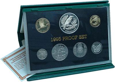 Изображение Подарочные монеты Новая Зеландия Набор 1995 года 1995  Proof В набор входят шесть