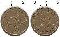 Изображение Монеты Танзания 100 шиллингов 1994 Латунь VF