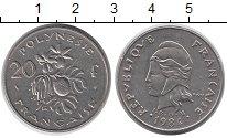 Изображение Монеты Полинезия 20 франков 1984 Медно-никель XF