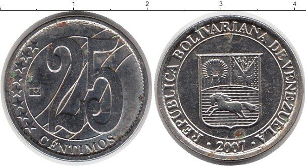 Картинка Монеты Венесуэла 25 сентим Медно-никель 2007