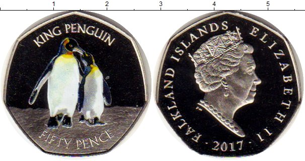 Картинка Монеты Фолклендские острова 50 пенсов Медно-никель 2017