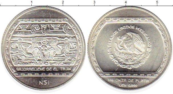 Картинка Монеты Мексика 1 песо Серебро 1993
