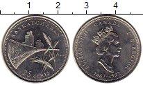 Изображение Монеты Канада 25 центов 1992 Медно-никель UNC
