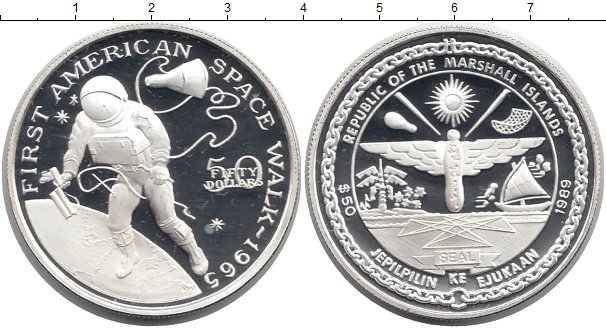 Картинка Монеты Маршалловы острова 50 долларов Серебро 1989