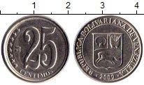 Изображение Монеты Венесуэла 25 сентим 2009 Медно-никель XF