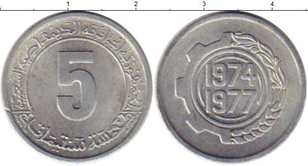 Картинка Монеты Алжир 5 сантим Алюминий 1974
