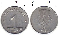Изображение Монеты ГДР 1 пфенниг 1950 Алюминий XF