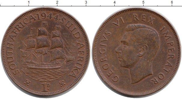 Картинка Монеты ЮАР 1 пенни Бронза 1944
