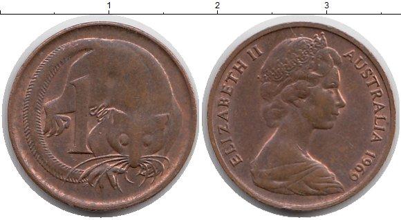 Картинка Монеты Австралия 1 цент Бронза 1969