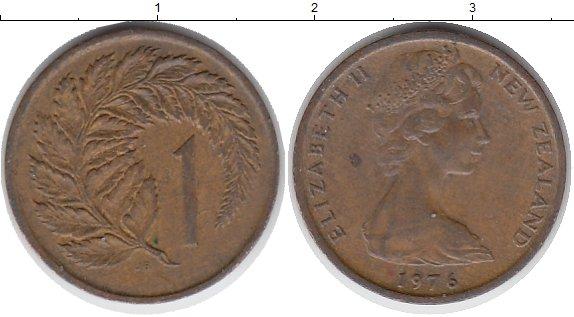 Картинка Монеты Новая Зеландия 1 цент Бронза 1976