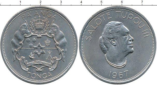 Картинка Монеты Тонга 1 паанга Медно-никель 1967