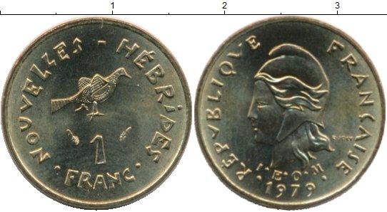 Картинка Монеты Новые Гебриды 1 франк Латунь 1979