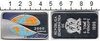 Изображение Монеты Сан-Томе и Принсипи 2000 добрас 1998 Серебро Proof-