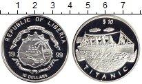 Изображение Монеты Либерия 10 долларов 1999 Серебро Proof